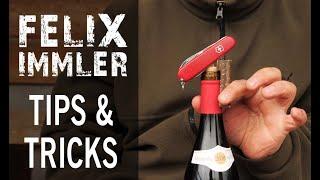 Victorinox Tips & Tricks (5/25) - Corkscrew (1) - 3 techniques how to open a wine bottle