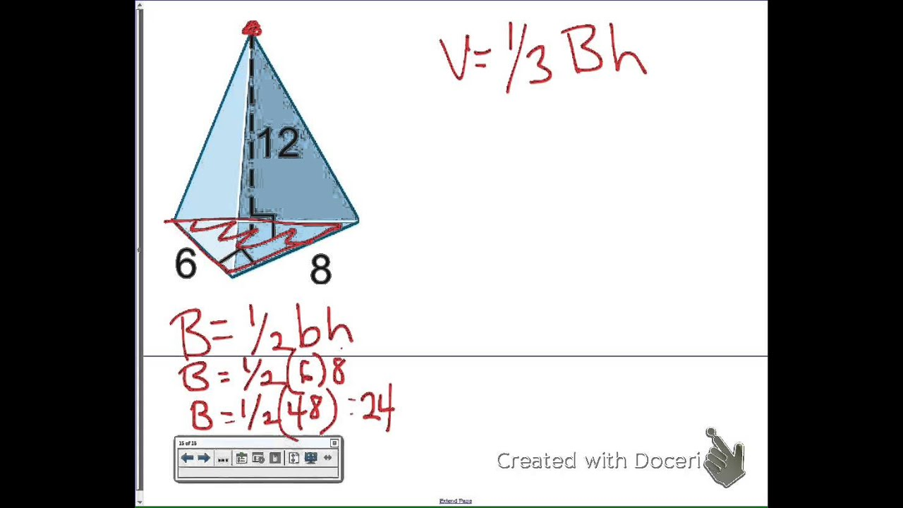worksheet Volume Triangular Pyramid unit 4 volume of a triangular pyramid youtube pyramid