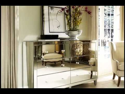 mirrored bedroom furniture sets - YouTube