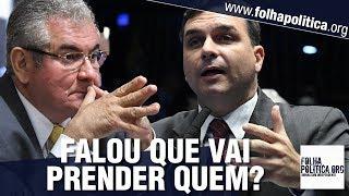 Frente A Frente Flávio Bolsonaro Enquadra Senador Sobre Ameaça De Prisão A Carlos Bolsonaro CPI