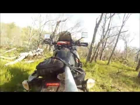 Klr 650 3rd person attempt with Shower curtain rod 2nd attempt