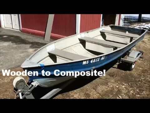 Wooden Boat Seat Upgrade To Composite Trex Youtube