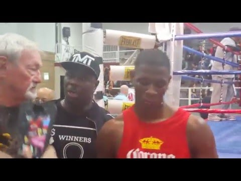 Izea Hatcher son of star Trainer Nate Jones first boxing fight