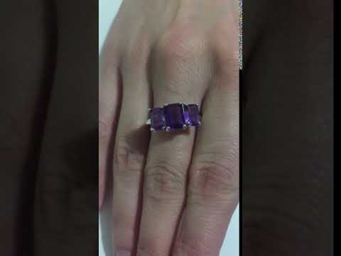 Amethyst Sterling Silver Trillion Octaganal Cut - FOR SALE by Truly Gems