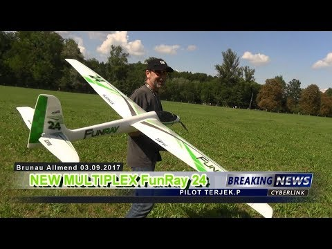 New MULTIPLEX FunRay 24 RC SAILPLANE Allmend ZH 2017