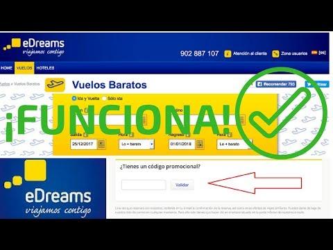 Codigo promocional Edreams.es ✈⭐😀 Descuento Gratis para vuelos baratos con Edreams