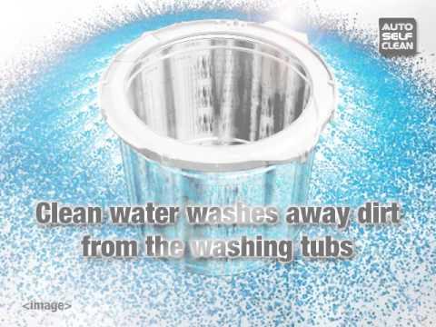 self cleaning washing machine