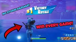 Win Every Game with This Game Breaking Glitch (No storm damage) Fortnite Glitches Season 5