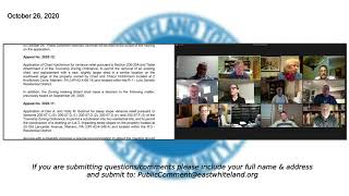 October 26 2020 East Whiteland Zoning Hearing Board