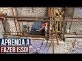 COMO FAZER ANCORAGEM DA FERRAGEM DA VIGA SOBRE PAREDE!!