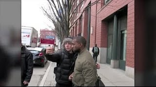 kanye west agrees to snap picture with fan after rejecting him splash news tv splash news tv