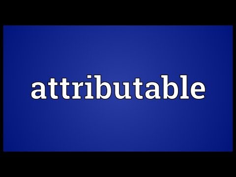 Header of attributable