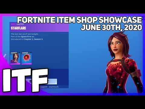 Fortnite Item Shop *NEW* STARFLARE SKIN SET! [June 30th, 2020] (Fortnite Battle Royale)