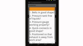 Canvas Abrasive Blasting Inspection Checklist Mobile App