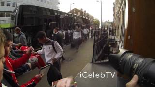 Jurgen Klopp Leads Liverpool players to Hope Street hotel