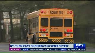NYC yellow school bus drivers could go on strike