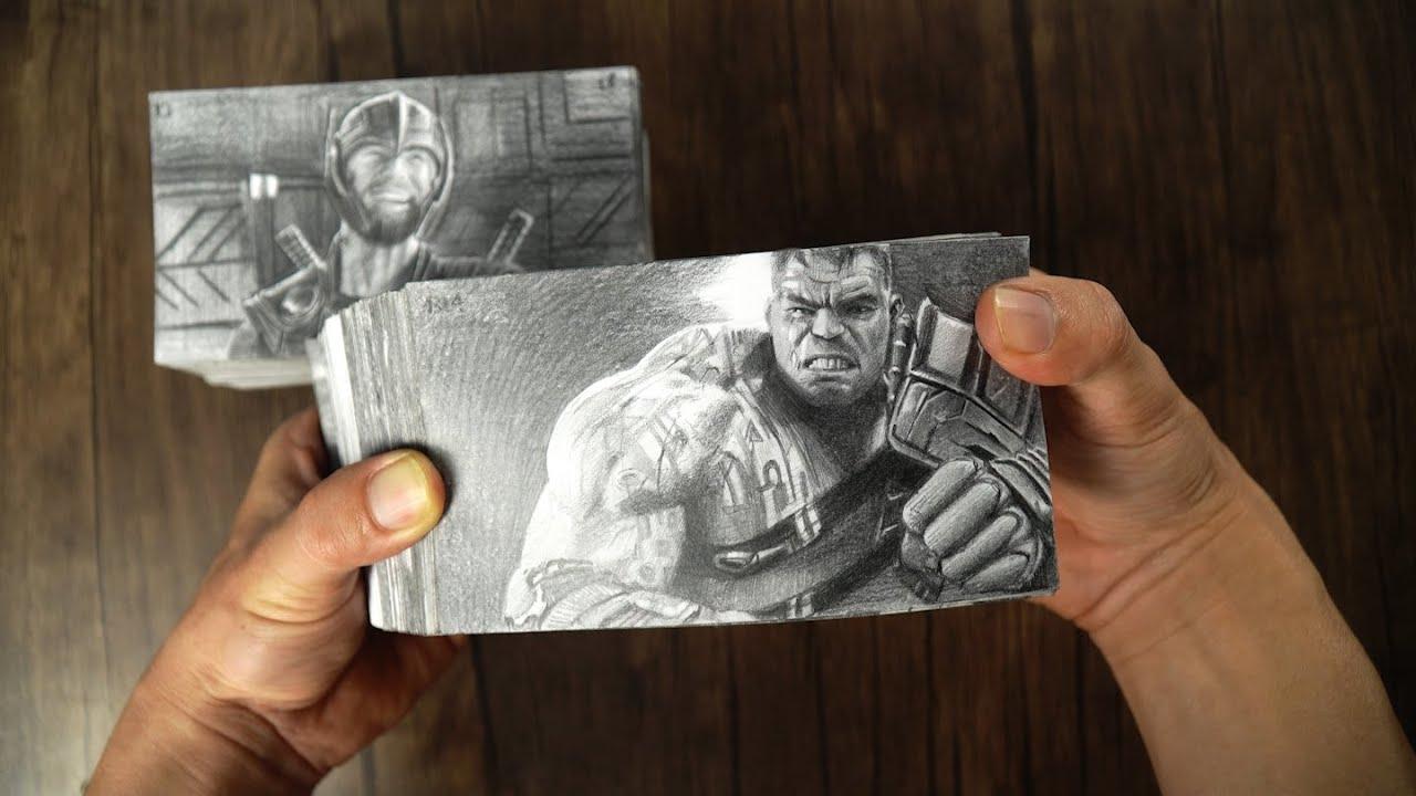 Thor VS Hulk Flipbook - DP ART DRAWING