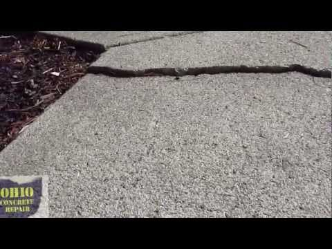 How to grind a Concrete Trip Hazard, Fix Raised Concrete, Repair Crack Grinding