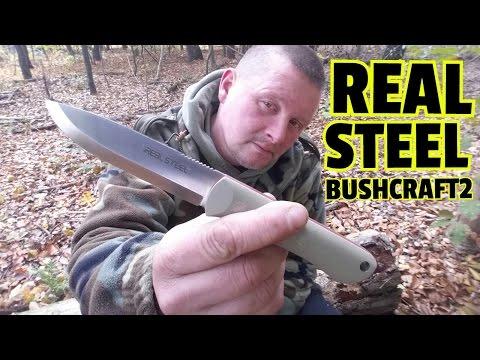 ✔REAL STEEL BUSHCRAFT2 Review & Hardcore Test (German)