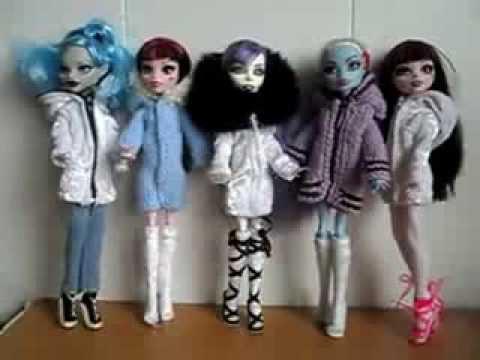 Как сделать для куклы монстер хай одежду
