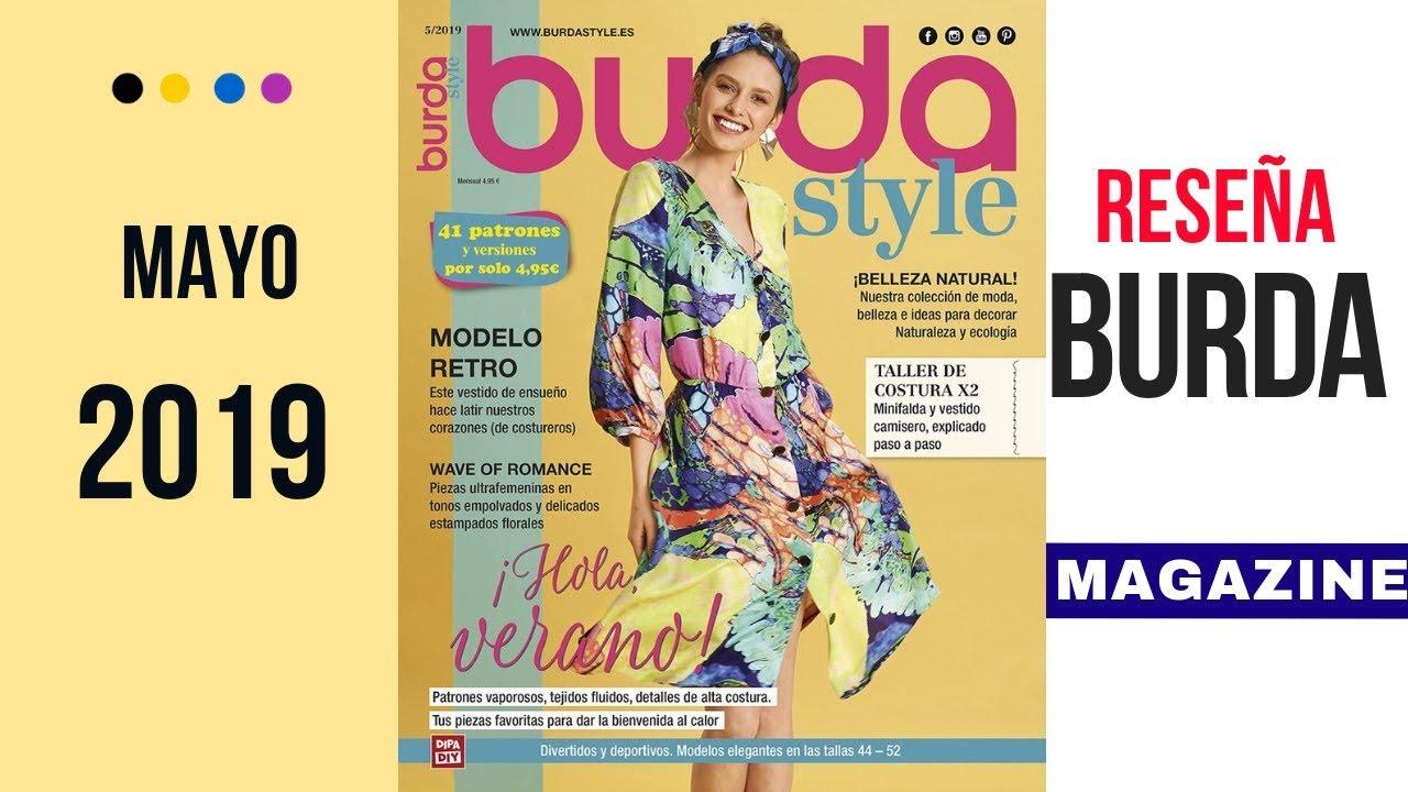 Resena Revista Burda Style Mayo 2019 Con Dibujos Tecnicos Youtube