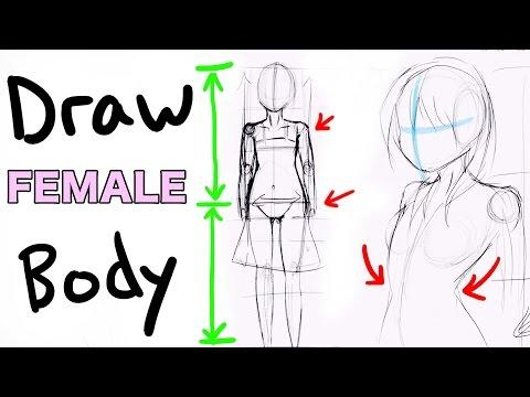 DRAW a FEMALE BODY Manga/Anime Girl Style|Drawing Vlog #2