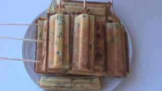 Печенье с зеленым луком в мультипекаре от REDMOND