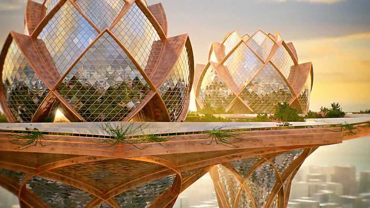 Architecture city in the sky - concept architecture - youtube