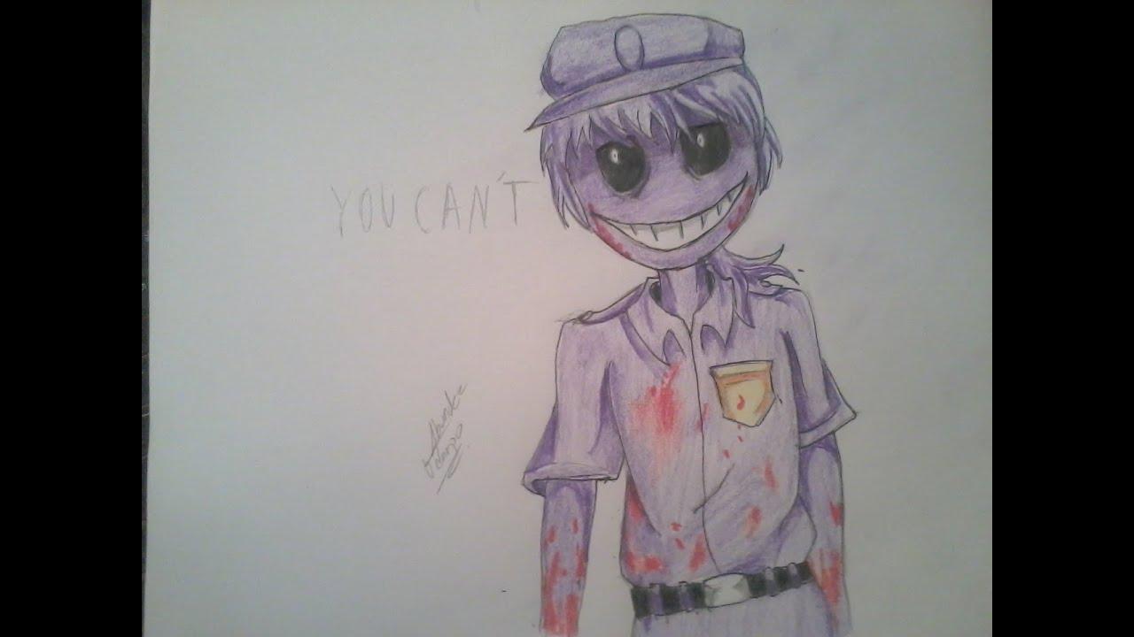Dibujando al Hombre morado,Vincent? Purple guy/Five Nights at Freddy ...
