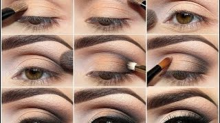 Пошаговый макияж для карих глаз видео