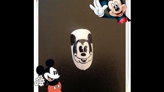 薔薇美甲學堂-Mickey Mouse美甲教學 米老鼠 美甲彩繪教學