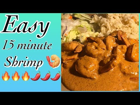🍤🌶 Creamy & Spicy Chipotle Shrimp / 15 Minute Meal 🌶🍤🍤