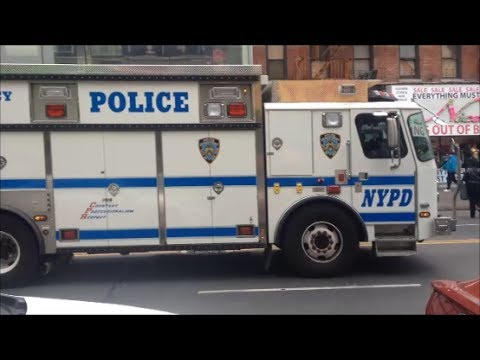 NYPD ESU ESS Quick View Of The Emergency Service Unit Truck 2 On 125th Street In Manhattan