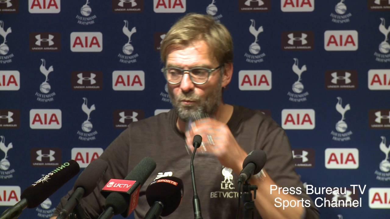 Jurgen Klopp Reaction Tottenham Vs Liverpool Youtube