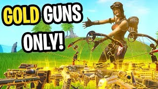I used RENEGADE RAIDER with ONLY gold guns in Fortnite... (very hard)
