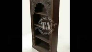 Furniture Wooden Bookshelf Indian Furniture & Handicraft Manufacture And Exporter (bookshelf)