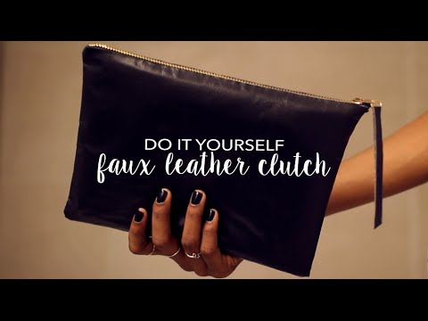 Diy Faux Leather Clutch How To Make Sew No