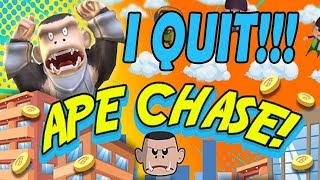 I HATE THIS GAME! I QUIT FGEETV-APE CHASE GAME - HARDEST GAME EVER!