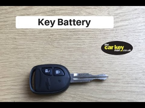 Chevrolet Spark 2013 Key Battery Change How To Youtube