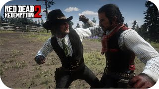 Dutch vs Colm Odriscoll Fight RDR2 AI Battle NPC Fights