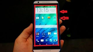 how to take a screenshot on htc desire 820