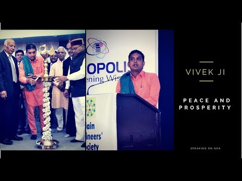 Peace and prosperity | Material wealth | Goa program | Indian peace council