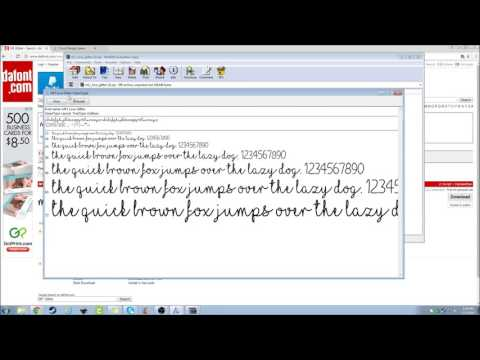 Getting a font from DaFont com to Design Space - YouTube