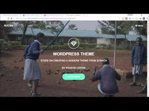 How To Convert Html 5 Modern Template To A Wordpress Theme 2016