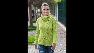 Оригинально связанный Пуловер  Stylish Pullover