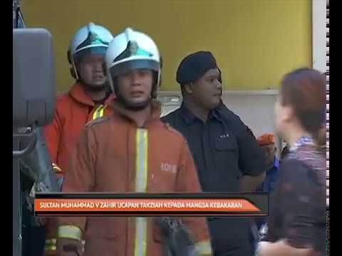 Sultan Muhammad V Zahir ucapan takziah kepada mangsa kebakaran