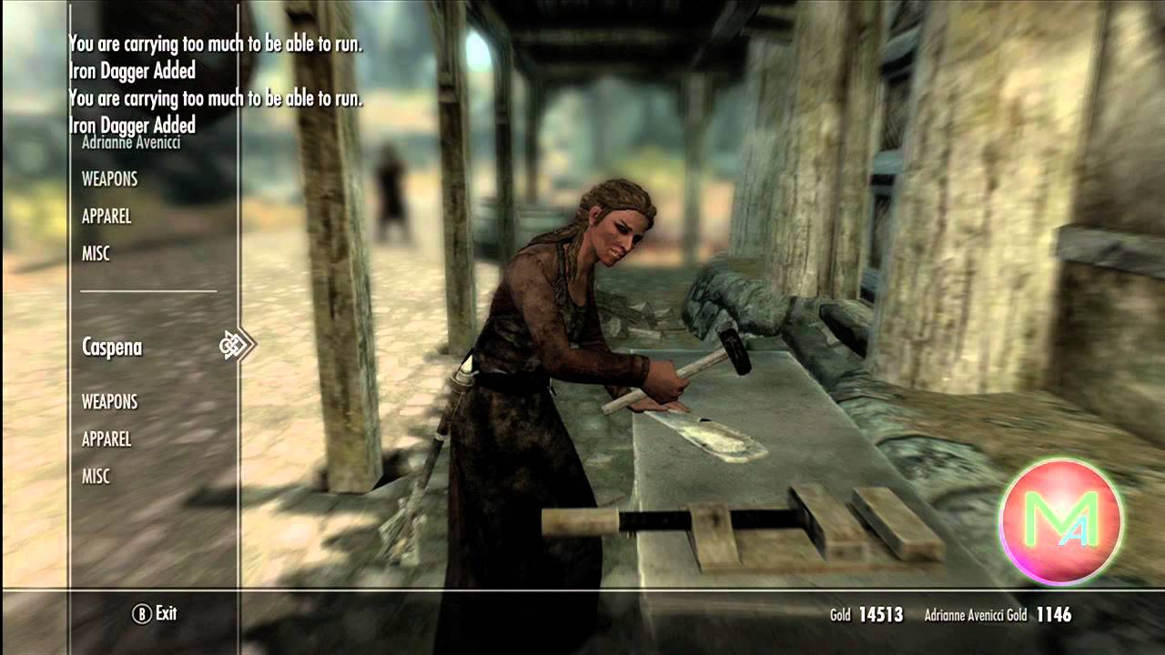 skyrim how to get smithing to 100 fast