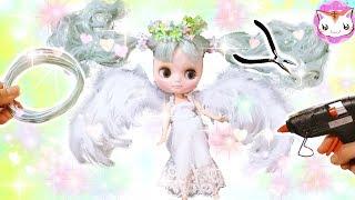 ドールを100均アイテムでめっちゃ可愛い天使にカスタムDIYしてみました...