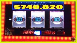 $740,820 HUGE JACKPOT! BIGGEST PROGRESSIVE JACKPOT I EVER WITNESSED
