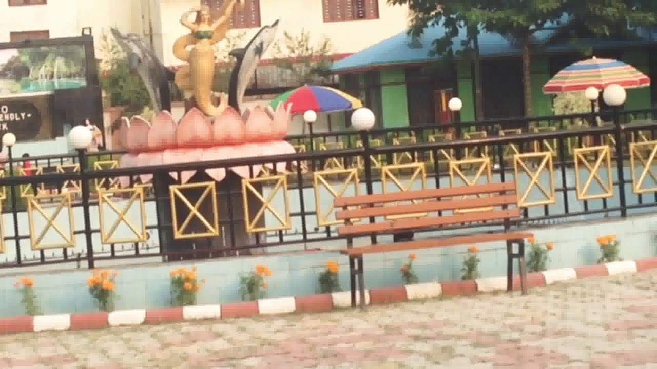 Eco park fountain in Biratnagar Nepal